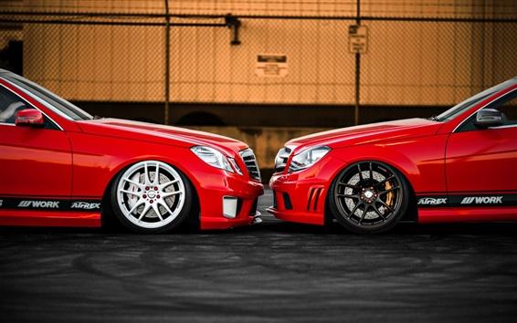 Wallpaper Mercedes-Benz E350 C350 car front view
