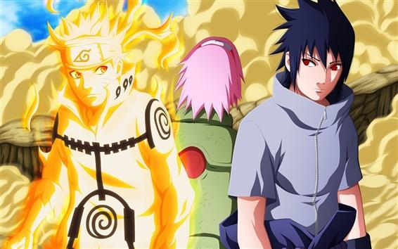 Wallpaper Naruto, two boys
