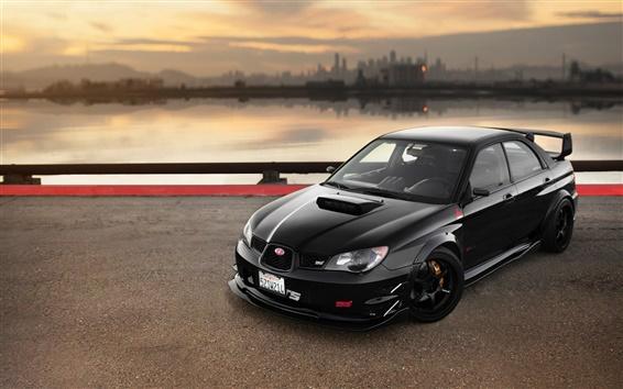 Wallpaper Subaru Impreza black car