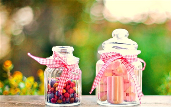 Обои Сладкая пища, конфеты, бутылка