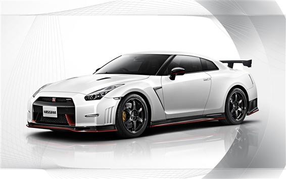 Fondos de pantalla 2015 Nissan GT-R Nismo coche blanco