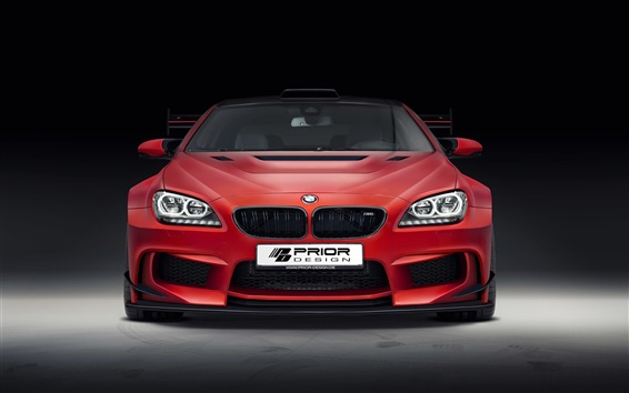 Wallpaper BMW M6 F13 red car front view