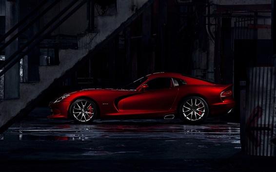 Wallpaper Dodge Viper GTS red supercar