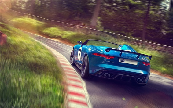 Обои Jaguar Project 7 Concept суперкар вид сзади