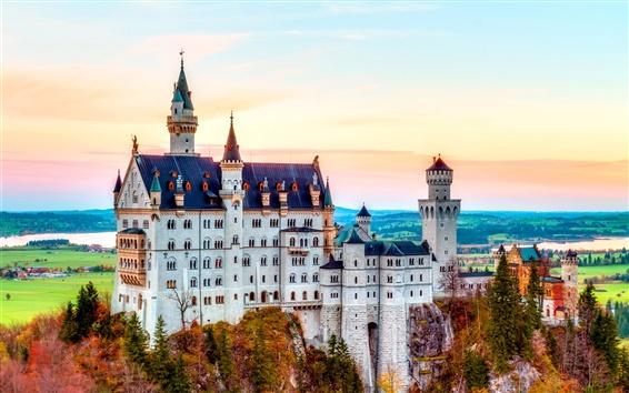 Fond d'écran Château de Neuschwanstein, Bavière, Allemagne, automne