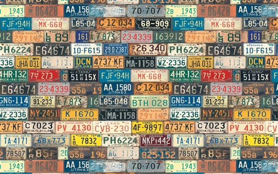 Wallpaper Numbers, symbols, USA