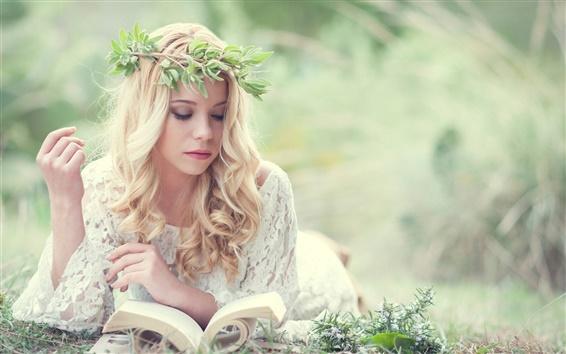 Обои Сандра Onofrei чтение книги