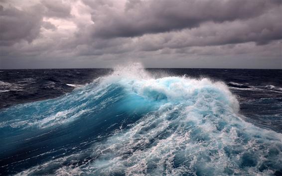 Fond d'écran Vent, tempête, vague de la mer, de l'eau