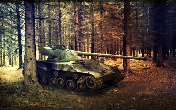 Wallpaper World of Tanks, trees, forest