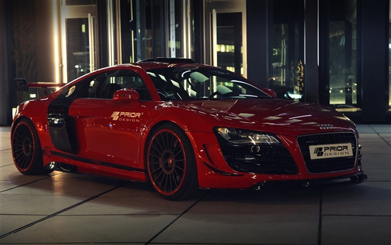 Wallpaper Audi R8 GT650 red color car