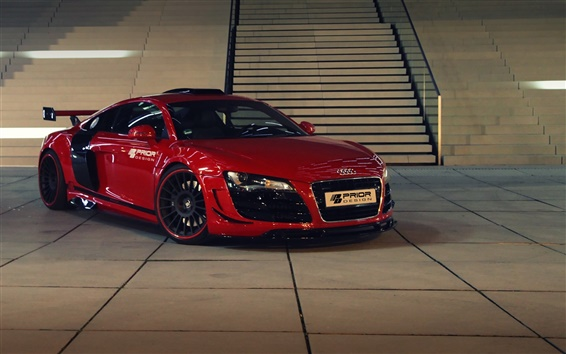 Wallpaper Audi R8 GT650 red supercar