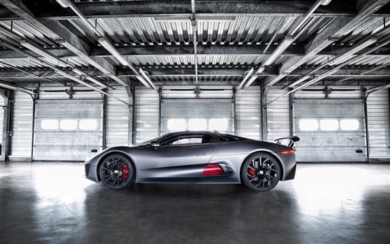 Обои Jaguar C-X75 Hybrid, суперкар прототип, вид сбоку