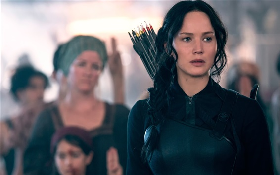 Fondos de pantalla Jennifer Lawrence, 2014 película, The Hunger Games: Mockingjay