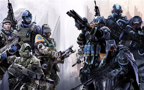 Wallpaper Killzone: Shadow Fall, soldiers