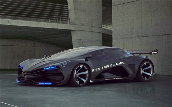 Wallpaper Lada Raver Raven Concept car