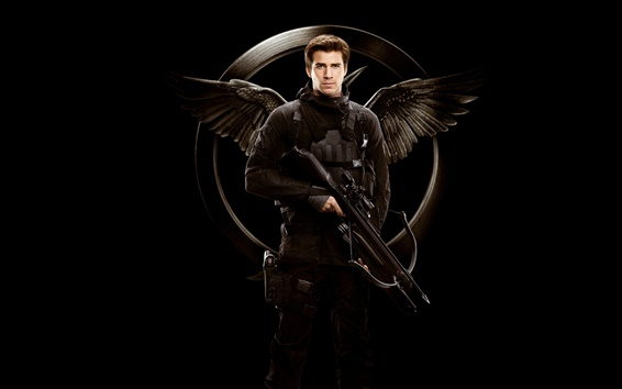 Fond d'écran Liam Hemsworth, The Hunger Games: Mockingjay, Partie 1