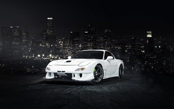 Wallpaper Mazda RX-7 white car