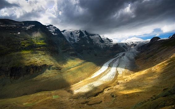 Wallpaper Nature landscape, mountains, sky, clouds