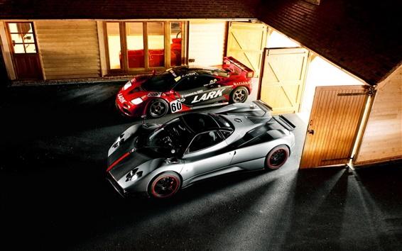 Fondos de pantalla Pagani Zonda, McLaren F1, supercar