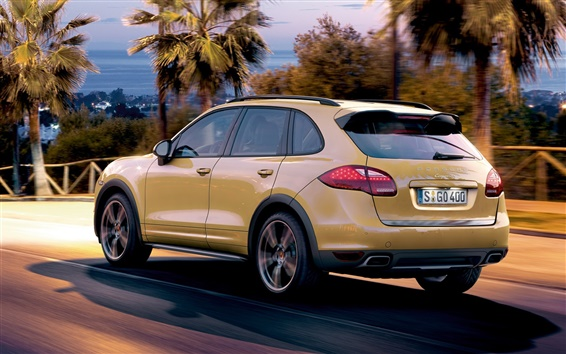 Wallpaper Porsche Cayenne SUV car back view