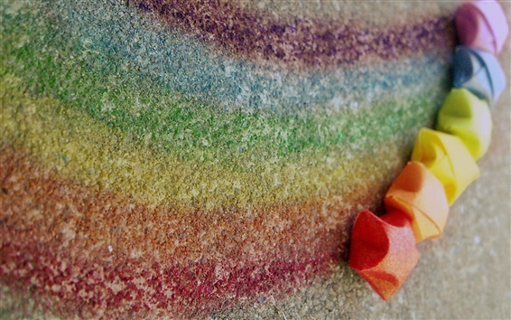 Wallpaper Rainbow chalk, colorful, creative, colors, lines, stars
