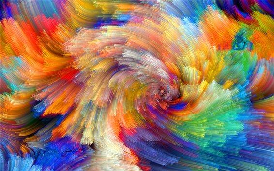 Wallpaper Rainbow pattern, colorful lines, abstract pictures