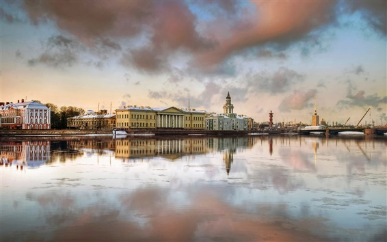 Wallpaper Saint-Petersburg, houses, river