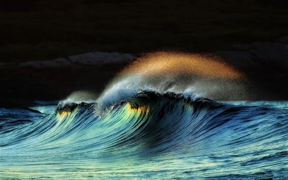 Papéis de Parede Mar, respingos de água, ondas, tempestades