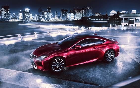 Wallpaper 2014 Lexus red supercar