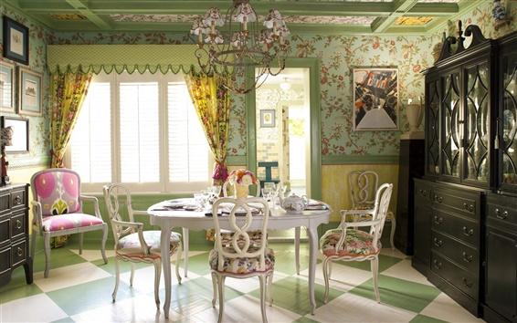 Wallpaper Interior design, home, villa, dining
