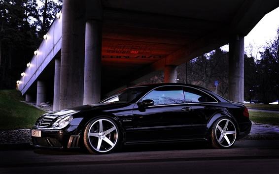 Fond d'écran Mercedes-Benz CLK63 voiture noire