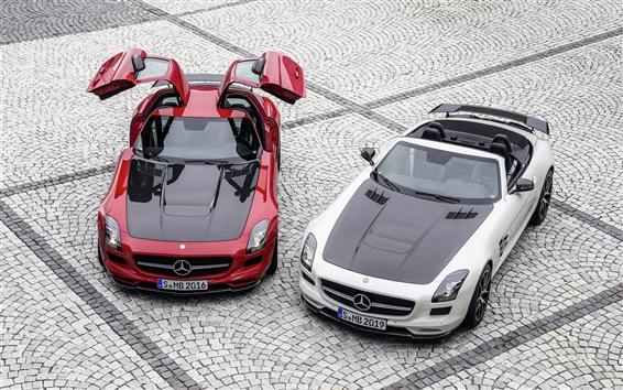 Fond d'écran Mercedes-Benz SLS AMG