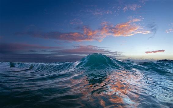 Обои Океан, закат, море волны, вода