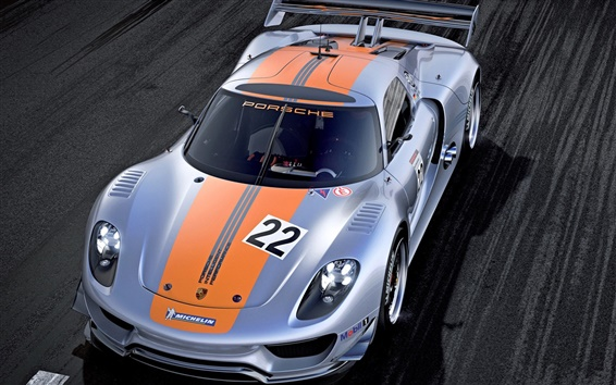 Fond d'écran Porsche 918 RSR Concept supercar vue de face