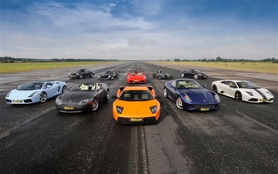 Wallpaper Supercars, Lamborghini, Aston Martin, Ferrari