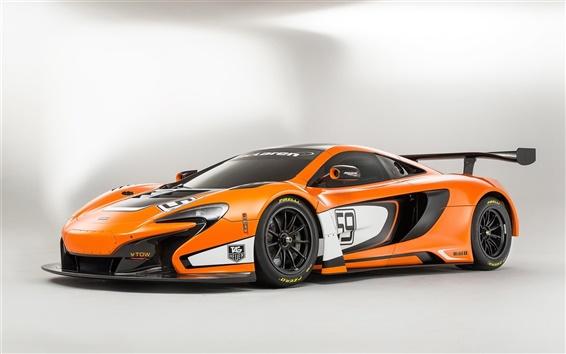 Fond d'écran 2015 McLaren GT3 650S d'orange supercar