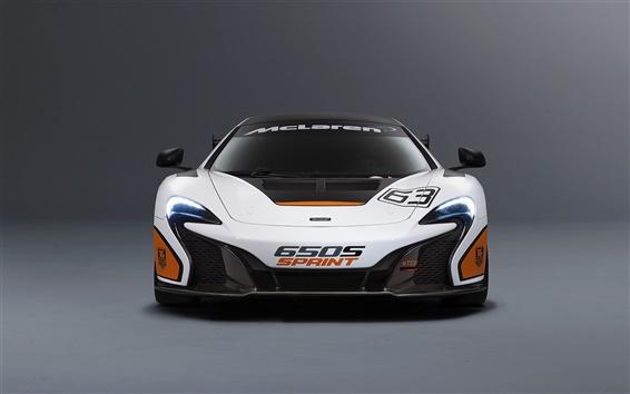 Fondos de pantalla 2015 McLaren 650S Sprint vista frontal supercar blanco