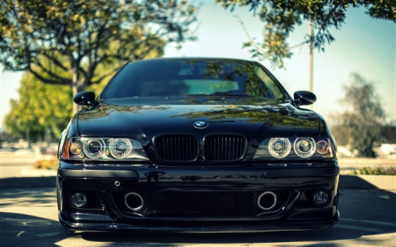 Wallpaper BMW M5 E39 black car front view