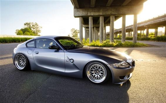 Fond d'écran BMW Z4 voiture argent vue de côté