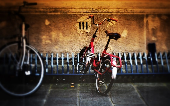 Papéis de Parede Estacionamento de bicicletas rua