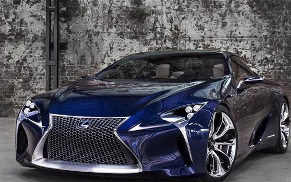 Wallpaper Blue Lexus LF-LC concept car