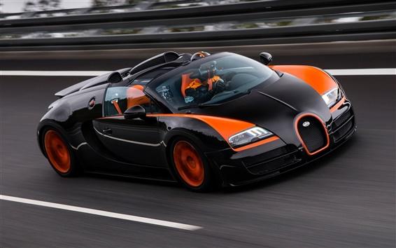 Papéis de Parede Bugatti Veyron 16.4 Grand Sport supercar na raça