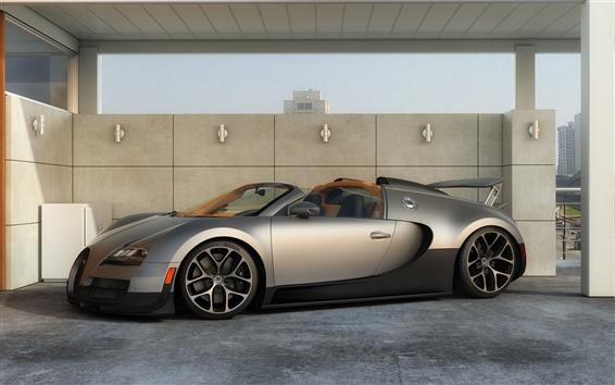 Papéis de Parede Bugatti Veyron Grand Sport vista lateral supercar