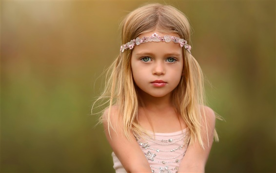 Wallpaper Cute girl, portrait, blonde