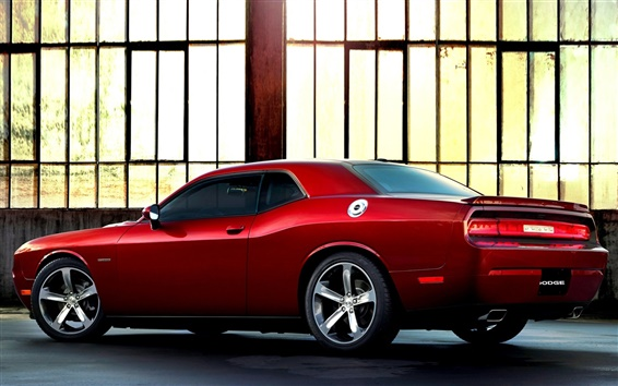Wallpaper Dodge Challenger 100th Anniversary red supercar