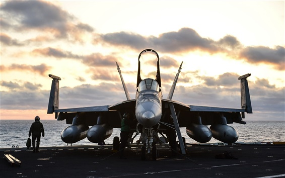 Wallpaper FA-18E Super Hornet, aircraft, fighter