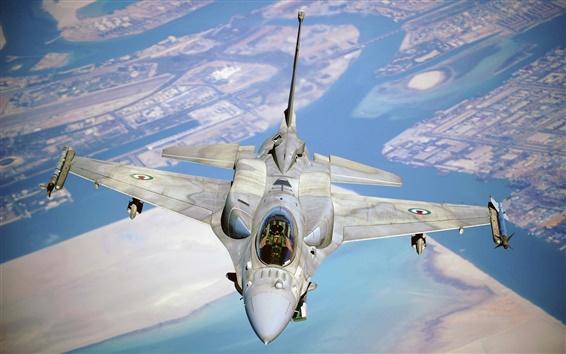 배경 화면 전투기 F-16 파이팅 팔콘