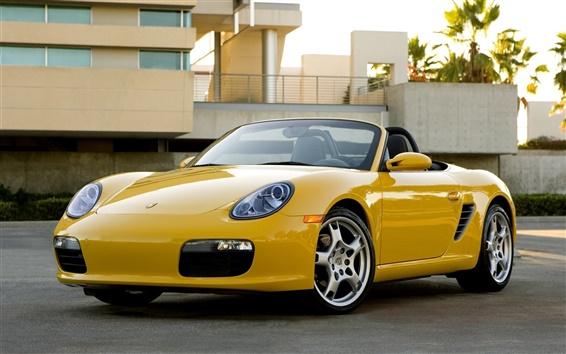 Fond d'écran Voiture jaune Porsche