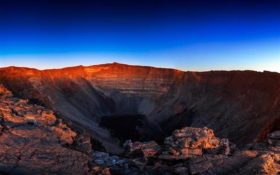 Papéis de Parede Céu cratera do vulcão, anoitecer