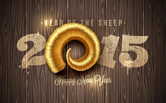 Fond d'écran Happy New Year 2015, année de moutons